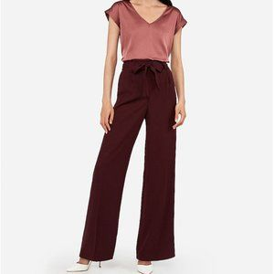 NWT Express High Waisted Paperbag Wide Leg Pant M